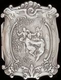 Silver Smalls:Cigarette Cases, A KERR SILVER CIGARETTE CASE, Newark, New Jersey, circa 1900.Marks: (faces), STERLING, 1. 3-1/2 inches high (8.9 cm).3...