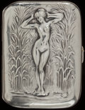 Silver Smalls:Cigarette Cases, AN UNGER BROTHERS SILVER AND SILVER GILT CIGARETTE CASE, Newark,New Jersey, circa 1900. Marks: UB (interlaced),STERL...
