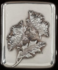 Silver Smalls:Cigarette Cases, A GEORGE SHIEBLER SILVER CIGARETTE CASE, New York, New York, circa1900. Marks: (winged S), STERLING, 47. 3 inches h...