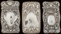 Silver Smalls:Match Safes, THREE GORHAM SILVER MATCH SAFES, Providence, Rhode Island,1902-1906. Marks to all: (lion-anchor-G), STERLING, B2198 ...(Total: 3 Items)