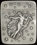 Silver Smalls:Match Safes, AN AMERICAN SILVER MATCH SAFE, Newark, New Jersey, circa 1900.Marks: STERLING. 2-1/4 inches high (5.7 cm). 1.10 troy ou...
