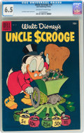 Golden Age (1938-1955):Cartoon Character, Uncle Scrooge #10 (Dell, 1955) CGC FN+ 6.5 Off-white to white pages....