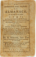 Books:Americana & American History, [Almanac]. N. Strong. An Astronomical Diary, Kalendar, orAlmanack, for the Year of Our Lord 1791, et al. Hartford: ...