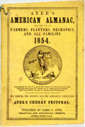 Books:Americana & American History, [Almanac]. Ayer's American Almanac. Lowell, J.C. Ayer,[1854]. Twelvemo. Publisher's printed wrappers. Some foxing a...