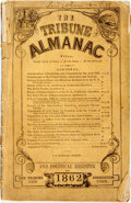 Books:Americana & American History, [Almanac]. The Tribune Almanac and Political Register for1862. New York: The Tribune Association, [1862]. Publisher...