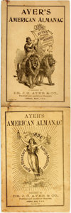 Books:Americana & American History, [Almanac]. Group of Two Copies of Ayer's American Almanac.Lowell, J.C. Ayer, [1894, 1896]. Twelvemos. Publisher's p...(Total: 2 Items)