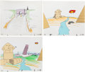 Animation Art:Production Cel, Fred Crippen - Opening Scene Production Cel Animation Art Group(Pantomime Pictures, 1980s).... (Total: 3 Original Art)