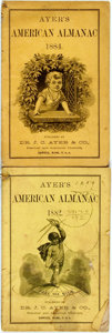Books:Americana & American History, [Almanac]. Group of Two Copies of Ayer's American Almanac.Lowell, J.C. Ayer, [1882, 1884]. Twelvemos. Publisher's p...(Total: 2 Items)