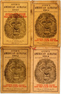 Books:Americana & American History, [Almanac]. Group of Four Copies of Ayer's American Almanac.Lowell, J.C. Ayer, [1910-1914]. Twelvemos. Publisher's p... (Total:3 Items)