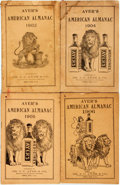 Books:Americana & American History, [Almanac]. Group of Four Copies of Ayer's American Almanac.Lowell, J.C. Ayer, [1902-1906]. Twelvemos. Publisher's p... (Total:4 Items)