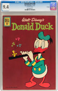 Silver Age (1956-1969):Cartoon Character, Donald Duck #80 File Copy (Dell, 1961) CGC NM 9.4 Off-white pages....