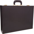 "Luxury Accessories:Bags, Hermes Marron Fonce Calf Box Leather Attache Briefcase with GoldHardware. Very Good Condition. 17.5"" Width x 13""Heig..."