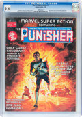 Magazines:Superhero, Marvel Super Action #1 The Punisher (Marvel, 1976) CGC NM+ 9.6White pages....