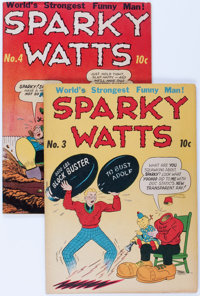 Sparky Watts #3 and 4 Group (Eastern Color, 1944) Condition: Average FN-.... (Total: 2 Comic Books)