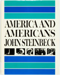 Books:Americana & American History, John Steinbeck. American and Americans. New York: The VikingPress, [1966]. First edition. Large octavo. Publisher's...