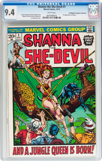 Shanna the She-Devil #1 Don/Maggie Thompson Collection pedigree (Marvel, 1972) CGC NM 9.4 White pages