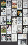 Autographs:Post Cards, Baseball Greats Signed Postcards Lot Of 25....