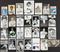 Autographs:Post Cards, Baseball Greats Signed Postcards Lot Of 25+...