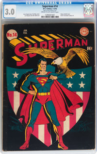 Superman #14 (DC, 1942) CGC GD/VG 3.0 Cream to off-white pages