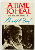 Books:Biography & Memoir, Gerald. R. Ford. SIGNED. A Time to Heal. [New York:], Harper& Row, [1989]. Later printing. Signed by the author o...