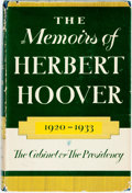 Books:Biography & Memoir, [Herbert Hoover]. SIGNED. The Memoirs of Herbert Hoover:The Cabinet & the Presidency, 1920-1933. New York: The...