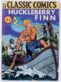 Golden Age (1938-1955):Classics Illustrated, Classic Comics #19 Huckleberry Finn - First Edition 1A (Gilberton, 1944) Condition: VG-....