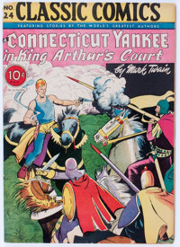 Classic Comics #24 A Connecticut Yankee in King Arthur's Court - First Edition (Gilberton, 1945) Condition: VG/FN