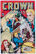 Golden Age (1938-1955):Miscellaneous, Crown Comics #4 (Golfing, Inc., 1945) Condition: VF-....
