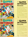 Miscellaneous:Ephemera, Group of Two Promotional Display Cards for The Super Dictionary. [New York:] Holt, Rhinehart, and Winston, [n.d.... (Total: 2 Items)