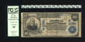 National Bank Notes:Virginia, Portsmouth, VA - $10 1902 Plain Back Fr. 632 American NB Ch. #(S)11381. Purple stamped signatures of F.D. Lawrence and ...