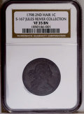 1798 1C Second Hair Style VF35 Brown NGC. S-167. NGC Census: (24/29). PCGS Population (9/48). Numismedia Wsl. Price: $1...