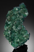 Minerals:Cabinet Specimens, GREEN FLUORITE on QUARTZ . Xianghuapu Mine, Xianghualing OreField, Linwu Co., Chenzhou Pref., Hunan Prov., China. ...(Total: 2 Items)