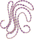 Estate Jewelry:Necklaces, Piranesi Amethyst, Pink Gold Necklace. ...