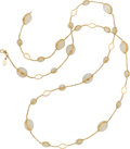 Estate Jewelry:Necklaces, Piranesi Moonstone, Gold Necklace. ...