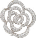 Estate Jewelry:Brooches - Pins, Van Cleef & Arpels Diamond, White Gold Brooch. ...