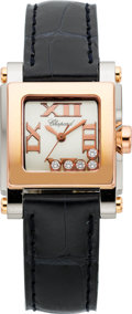"Estate Jewelry:Watches, Chopard Lady's Diamond, Gold, Stainless Steel ""Happy Sport"" Watch...."