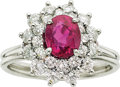 Estate Jewelry:Rings, Tiffany & Co. Ruby, Diamond, Platinum Ring. ...