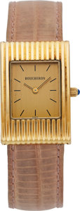 "Estate Jewelry:Watches, Boucheron Lady's Gold ""Reflet"" Watch. ..."