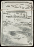 Silver Smalls:Match Safes, AN AMERICAN SILVER MATCH SAFE, circa 1900. Marks: STERLING.2-1/4 inches high (5.7 cm). 1.00 troy ounce. FROM THE ESTA...