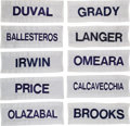 Golf Collectibles:Miscellaneous, Match Worn Caddie Bib Nameplates From 1992 US Open At Pebble Beach Lot of 120....