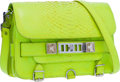 "Luxury Accessories:Bags, Proenza Schouler Neon Green Python PS11 Bag . GoodCondition. 11"" Width x 7.5"" Height x 3.5"" Depth. ..."