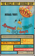 "Movie Posters:Adventure, Around the World in 80 Days (Michael Todd Co., R-1958). Trimmed OneSheet (25.5"" X 41""). Adventure.. ..."