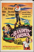 "Movie Posters:Adventure, The Bandits of Corsica (United Artists, 1953). One Sheet (27"" X41""). Adventure.. ..."