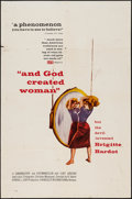 "Movie Posters:Foreign, And God Created Woman (Kingsley-International, 1957). One Sheet (27"" X 41""). Foreign.. ..."