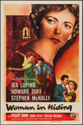 "Movie Posters:Film Noir, Woman in Hiding (Universal International, 1950). One Sheet (27"" X 41""). Film Noir.. ..."