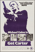 "Movie Posters:Crime, Get Carter (MGM, 1971). Australian One Sheet (27"" X 39.75"").Crime.. ..."