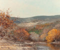 Texas:Early Texas Art - Regionalists, ROBERT WILLIAM WOOD (American, 1889-1979). The Colors of Fall,Texas Hill Country, 1957. Oil on canvas. 25 x 30 inches (...