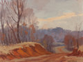 Texas, HAROLD ARTHUR RONEY (American, 1899-1986). Red Dirt Road.Oil on board. 12 x 16 inches (30.5 x 40.6 cm). Signed lower ri...