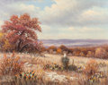 Texas:Early Texas Art - Regionalists, WILLIAM ROBERT THRASHER (American, 1908-1997). Autumn Cacti.Oil on canvas. 16 x 20 inches (40.6 x 50.8 cm). Signed lowe...