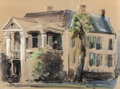 Texas:Early Texas Art - Drawings & Prints, ALICE MOORHOUSE (American, 20th Century). Pease House, CorpusChristi, 1960. Mixed media on paper. 17 x 23 inches (43.2 ...